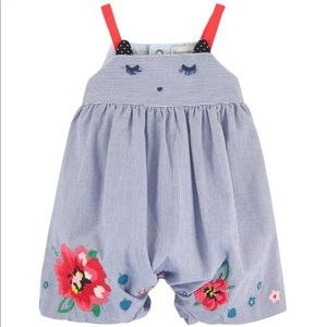 Catimini Blue Jumpsuit With Embroidery Size 18M